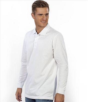 Muška Polo majica, dugi rukav - Gator bela