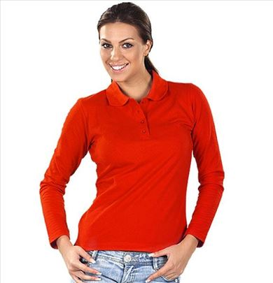 Ženska Polo majica dugi rukav Linda - crvena