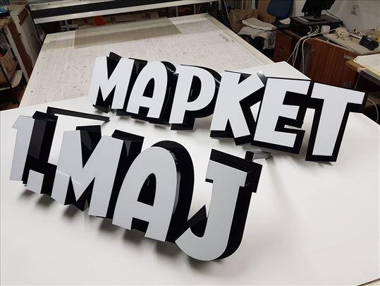 Svetleće reklame 3D slova
