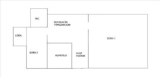 Izdajem namešten stan, 40 m2 kod TC Zira