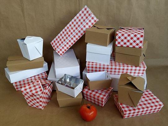 Kartonska ambalaža za dostavu i pakovanje hrane