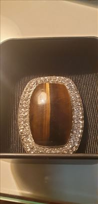 Tigrovo oko sa cirkonima-made in Italy