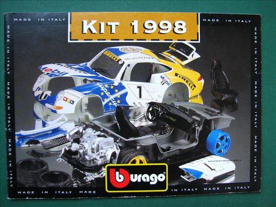 Burago 1998 Kit katalog 1/16 1/18 1/24