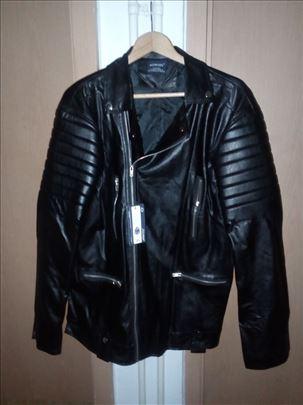 Muška kožna jakna rokerica