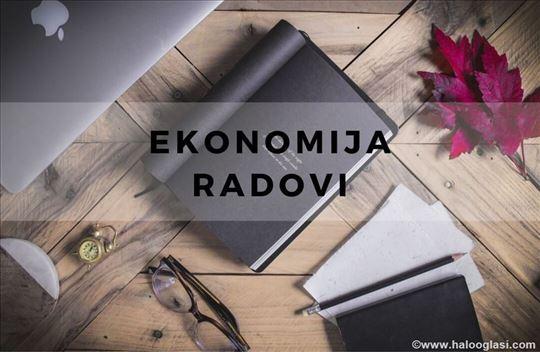 Ekonomija - seminarski, diplomski i master radovi