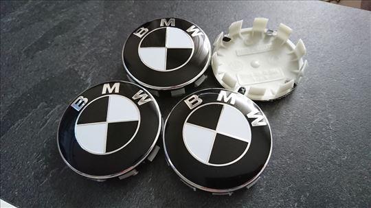 NOVO BMW cepovi za felne CRNI 68mm