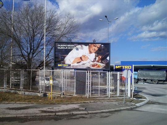 Montaža  reklama - bilborda - foto tapeta - folija