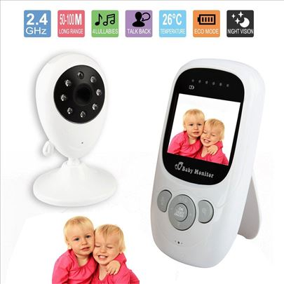 Baby monitor kamera sa ekranom i senzor temperatur