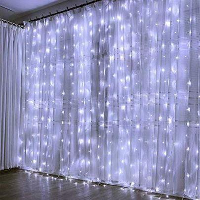 Novogodišnje Led lampice zavesa 3x3m