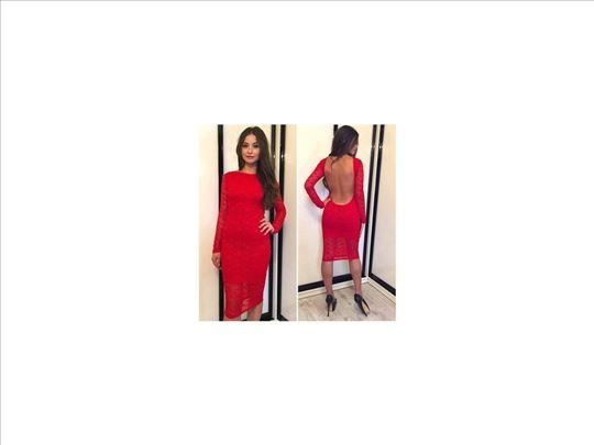 332) Prelepa čipkana haljina više boja