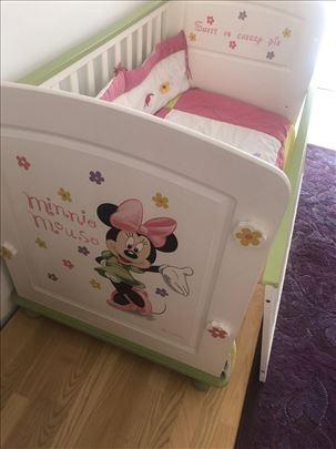 Krevet za devojčice i komoda