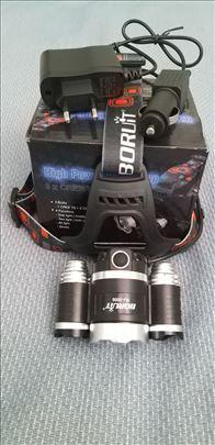 Led Lampa Za Glavu Sa Tri T6 Diode
