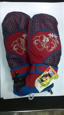 Ski rukavice decije vel.L,crv/plavo/lila nove