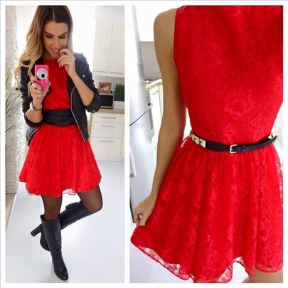 168) Čipkana haljina više boja