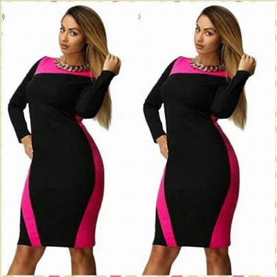 171) Prelepa dvobojna haljina VISE BOJA