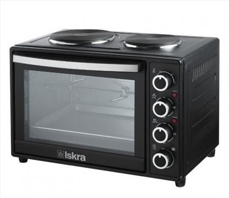 Mini pećnica - rerna sa pločama za kuvanje ISKRA