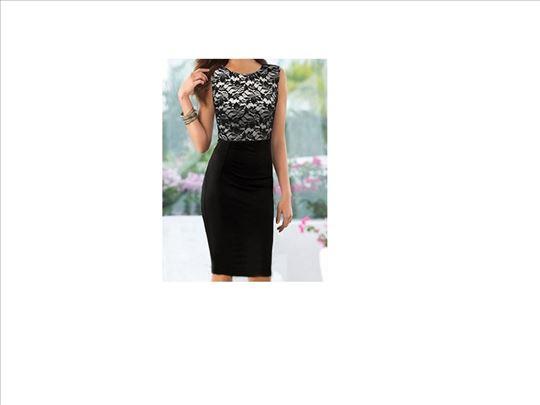 260) Prelepa cipkano pamucna haljina