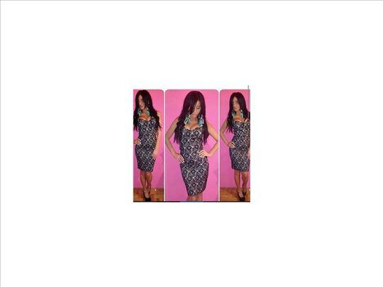 300) Čipkana push Up haljina više boja