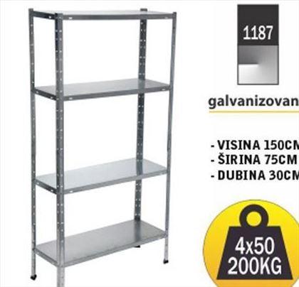 Metalne police: Polica 150x75x30 4x50kg Galva