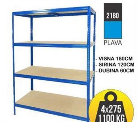 Metalne police:Polica metal-drvo180x120x60 4X275kg