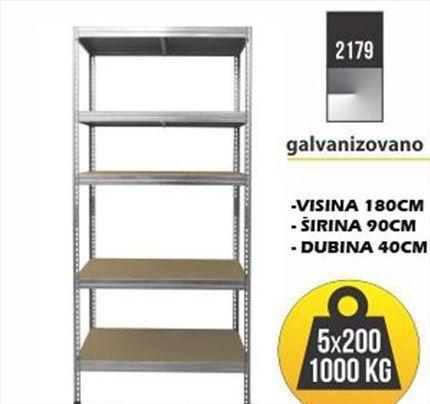 Metalne police:Polica metal-drvo180x90x45 5x200kg