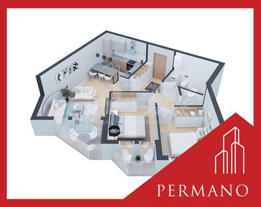 Novogradnja,1650e/m2,Povrat PDV,Podbara,74m2
