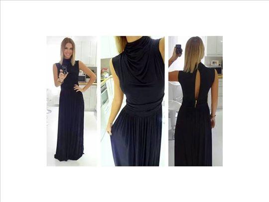 51) Crna haljina sa polu rol kragnicom VIŠE BOJA