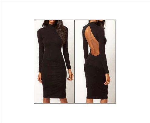 53) Crna haljina sa otvorenim ledjima VIŠE BOJA