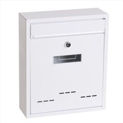 Poštansko sanduče belo i braon LEVIOR