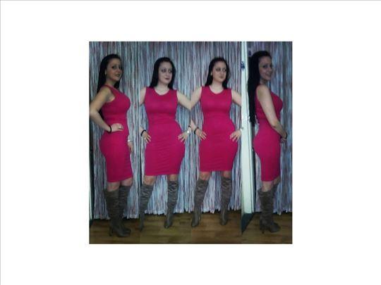 264) Pamucna haljina na bretele vise boja