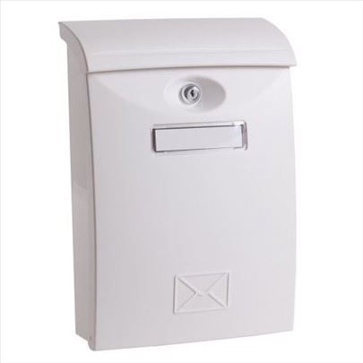 Poštansko sanduče PVC belo i braon 24x11x35cm