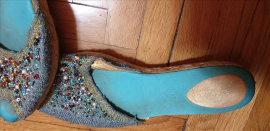 Replay-Papuče od sitnih perlica-made in Italy