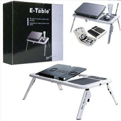 Sto za laptop (e-table) sa dva kulera