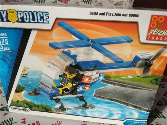kockice 103 komada NOVO helikopter policajac