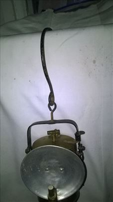 Starinska metalna rudarska karabitna lampa