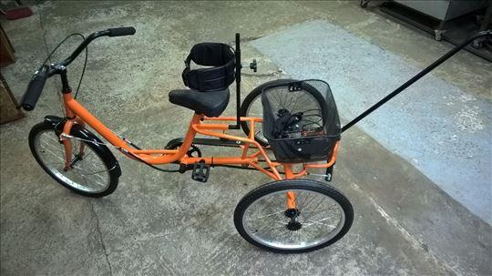 Tricikl za decu sa pos. potrebama dupli korman