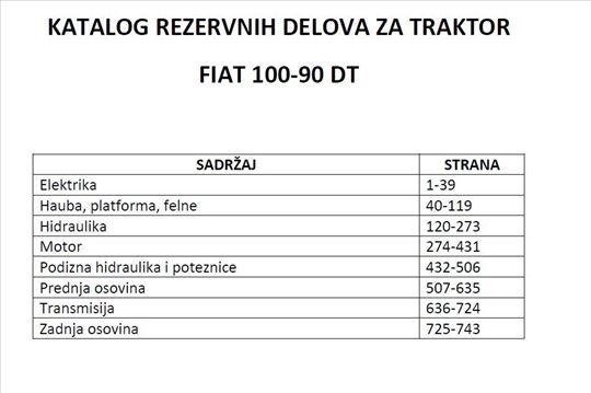 Fiat 100 - 90 DT Katalog delova