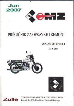 MZ ETZ 250 Servisna knjiga