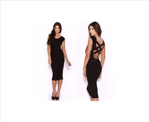 28) Divna crna haljina sa trakama, više boja