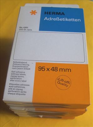 Samolepljive etikete za adrese