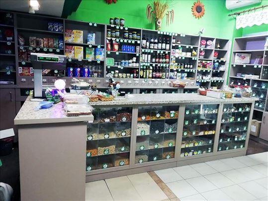Oprema za prodavnicu zdrave hrane, kompletna