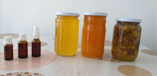Med, polen, propolis