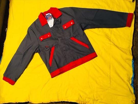 Radna jakna nemačka BP -sivo crvena 44-46 vel.-nov