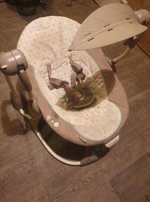 Ljuljaška za bebe vibrira,ima melodije,sama ljulja