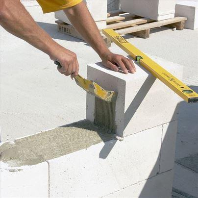 Zidanje, rušenje, šalovanje, betoniranje armiranje