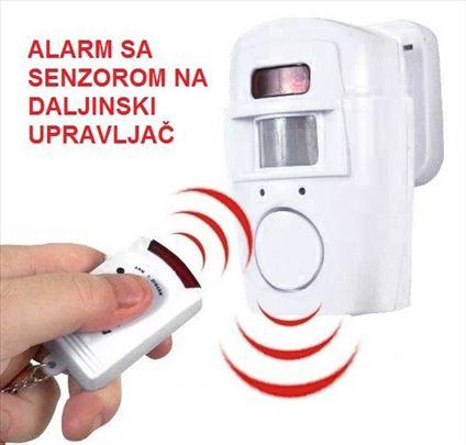 Alarm sa senzorom na daljinski upravljač