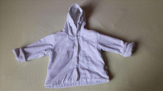 KANZ bela jaknica sa kapuljacom 74cm