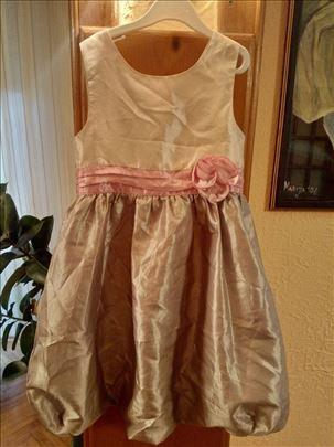 Satenska haljina za devojčice br. 6-7