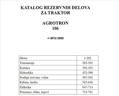 Deutz Fahr Agrotron 106 - Katalog delova