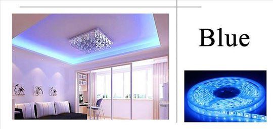 Plava LED traka, 5 metara, 12v - novo